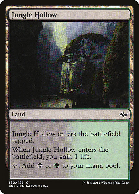 magic the gathering jungle hollow