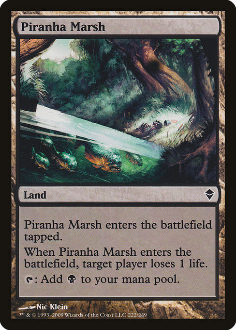 magic the gathering piranha marsh