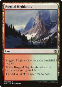 magic the gathering rugged highlands