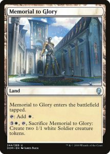 magic the gathering memorial to glory