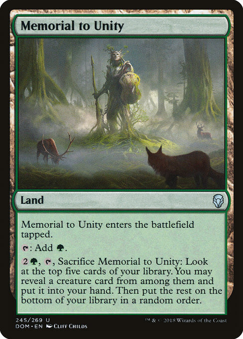 magic the gathering memorial to unity