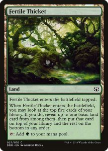 magic the gathering fertile thicket
